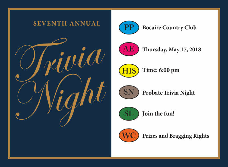 Seventh annual trivia night